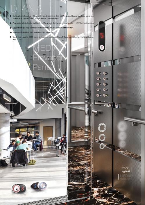 Elevator Cabin Panel - DIANA Model - Media® Production