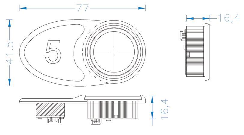 نقشه فنی کلید آسانسور M101