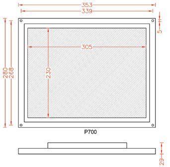 نقشه فنی نمایشگر P700
